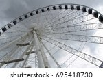 ferris wheel in gdansk | Shutterstock . vector #695418730