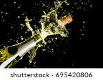 celebration theme with... | Shutterstock . vector #695420806