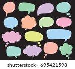 vector set of speech bubbles ... | Shutterstock .eps vector #695421598
