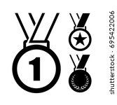 set of medal icons | Shutterstock .eps vector #695422006