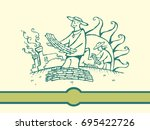 hand sketch of a sugar... | Shutterstock .eps vector #695422726