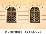 two classic windows | Shutterstock . vector #695437729