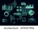 world analytics infographic.... | Shutterstock .eps vector #695437906