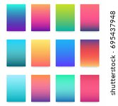soft color gradient. modern... | Shutterstock .eps vector #695437948