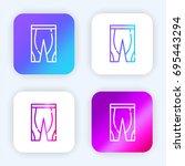 leggings bright purple and blue ...