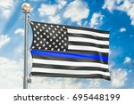 Thin Blue Line. Black Flag Of...