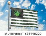 legalization of cannabis in us... | Shutterstock . vector #695448220