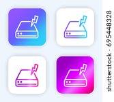 hard drive bright purple and...