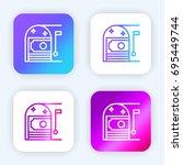 money bright purple and blue...
