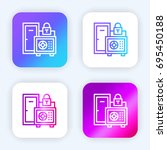 safe box bright purple and blue ...
