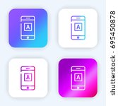 mobile app bright purple and...