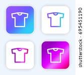 shirt bright purple and blue...