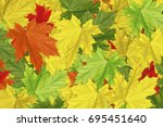 autumnal abstract background of ... | Shutterstock . vector #695451640