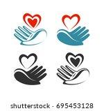 health  donation  charity logo... | Shutterstock .eps vector #695453128