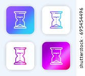 hourglass bright purple and...