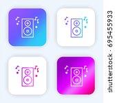speaker bright purple and blue...