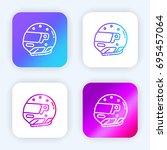 helmet bright purple and blue...