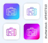 luggage bright purple and blue... | Shutterstock .eps vector #695457310