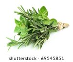 bouquet from rosemary and... | Shutterstock . vector #69545851