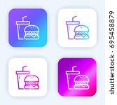 fast food bright purple and...