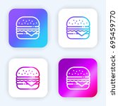 hamburger bright purple and...