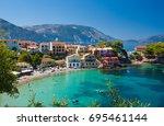 assos kefalonia greece | Shutterstock . vector #695461144