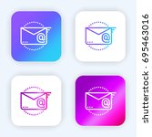 email bright purple and blue...