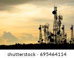 Silhouette Satellite Dish...