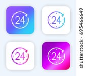 24 hours bright purple and blue ...