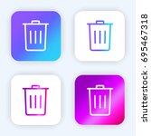 trash bright purple and blue...