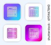 calculator bright purple and...
