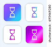 hourglass bright purple and...
