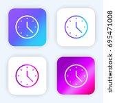 clock bright purple and blue...