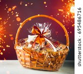 Gift Basket With Festive...