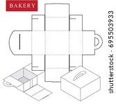 package for bakery.vector... | Shutterstock .eps vector #695503933