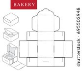 package for bakery.vector... | Shutterstock .eps vector #695503948