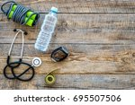 fitness for loosing weight.... | Shutterstock . vector #695507506