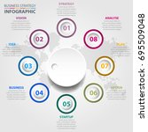 business infographics  global... | Shutterstock .eps vector #695509048
