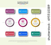 business infographics  strategy ... | Shutterstock .eps vector #695510389