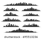 urban cityscape silhouettes... | Shutterstock .eps vector #695513236