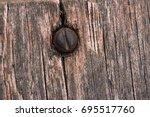 Close Up On Wood And Nail  ...