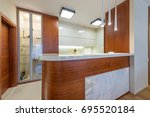 kitchen interior | Shutterstock . vector #695520184