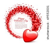 valentine's day or wedding... | Shutterstock .eps vector #69552031