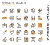 optometrist elements   thin... | Shutterstock .eps vector #695521690