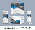 advertising exhibition stand... | Shutterstock .eps vector #695523973