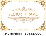 gold border design  frame photo ... | Shutterstock .eps vector #695527000