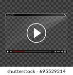 illustration of video player... | Shutterstock .eps vector #695529214