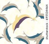 seamless texture with a flock... | Shutterstock . vector #695534464