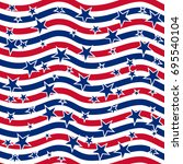 american patriotic stars and... | Shutterstock .eps vector #695540104