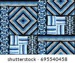 seamless geometric pattern in... | Shutterstock .eps vector #695540458